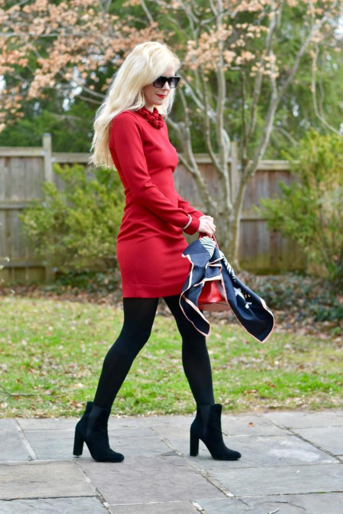 Happy Valentine's Day: Long Sleeve Red Dress